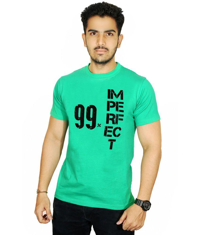 Ekvi Green Cotton T-Shirt For Men