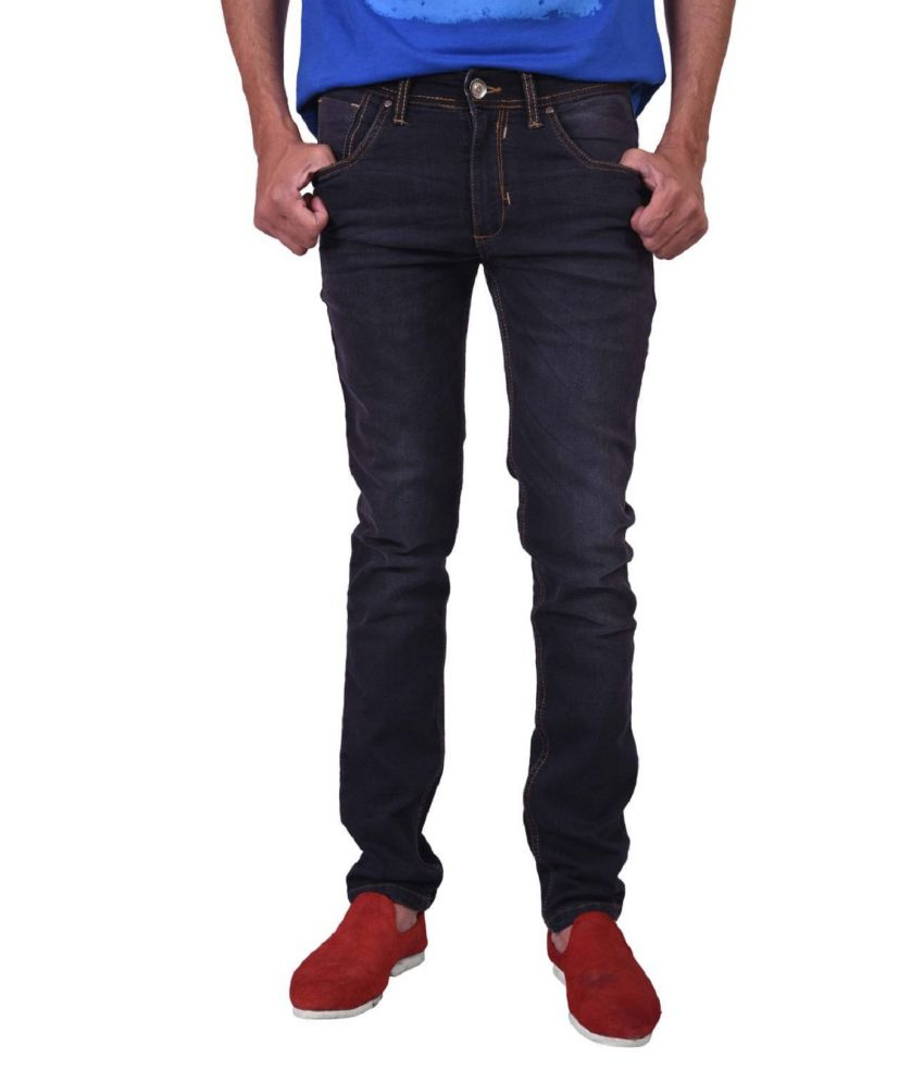 Jdc Black Denim Jeans For Men
