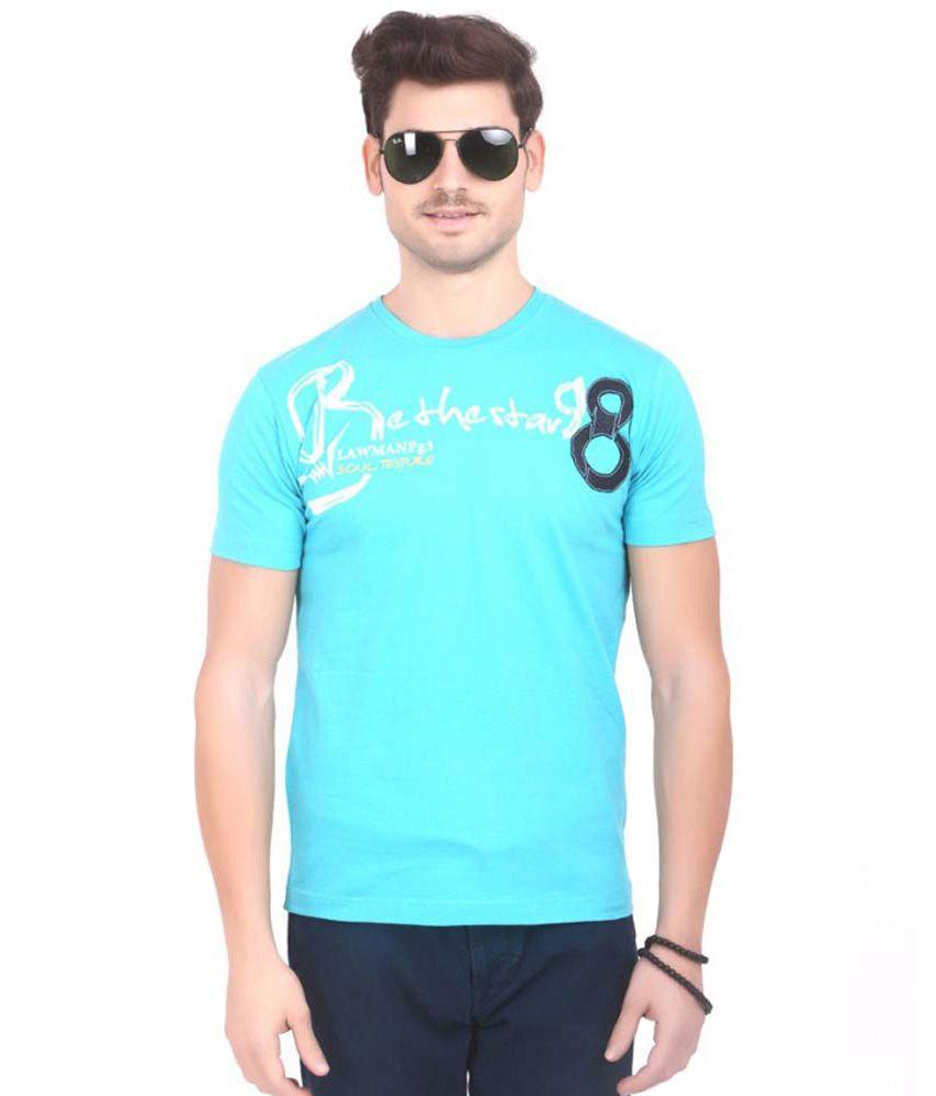 Lawman Blue Cotton T Shirt