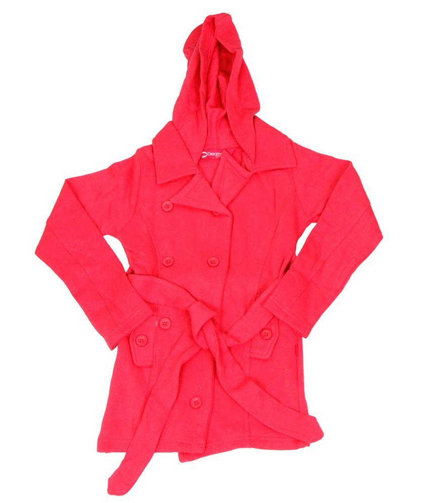 Dreamszone Pink Cotton Hooded Coat