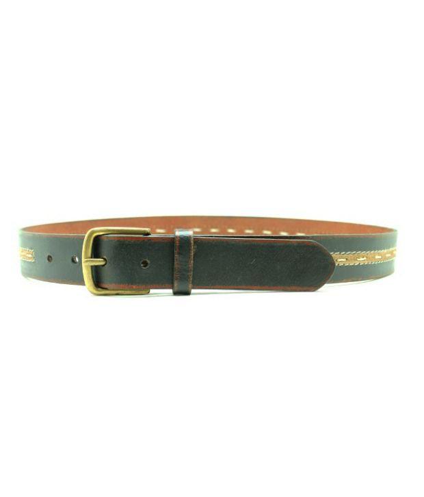 Lapalma Black Pin Buckle Casual Leather Belt For Men