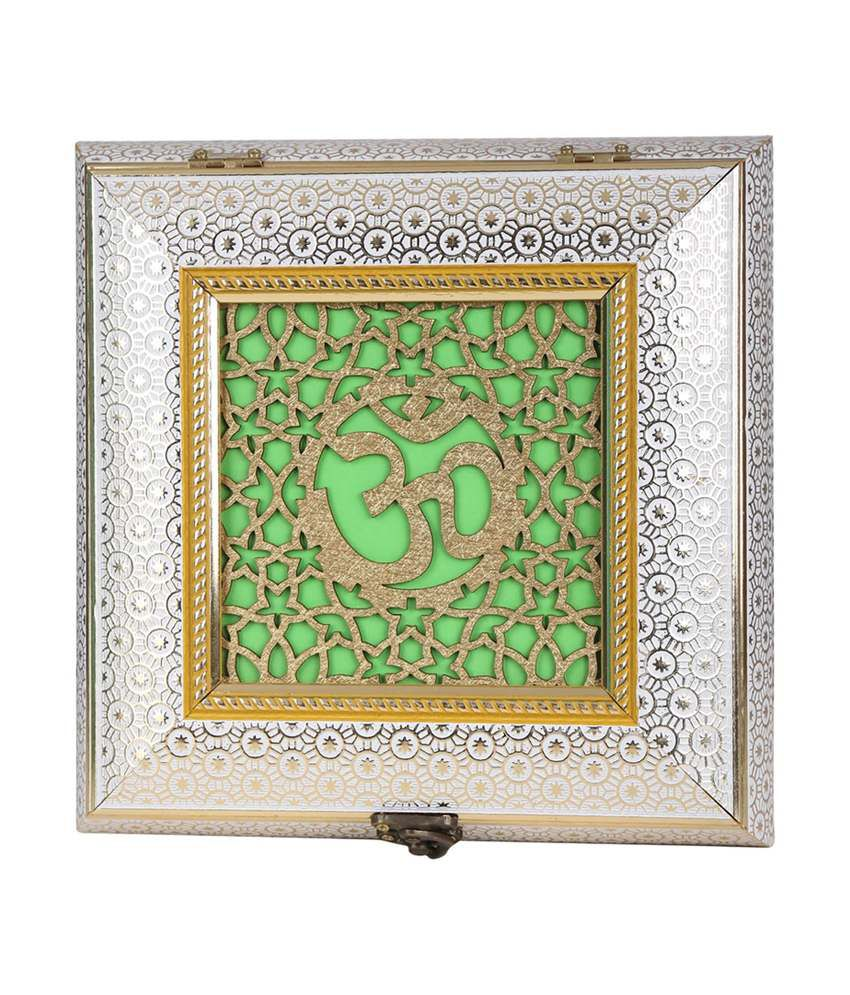 Aaina Home Decor Om Design Laser Work Wooden Handicraft Box Buy