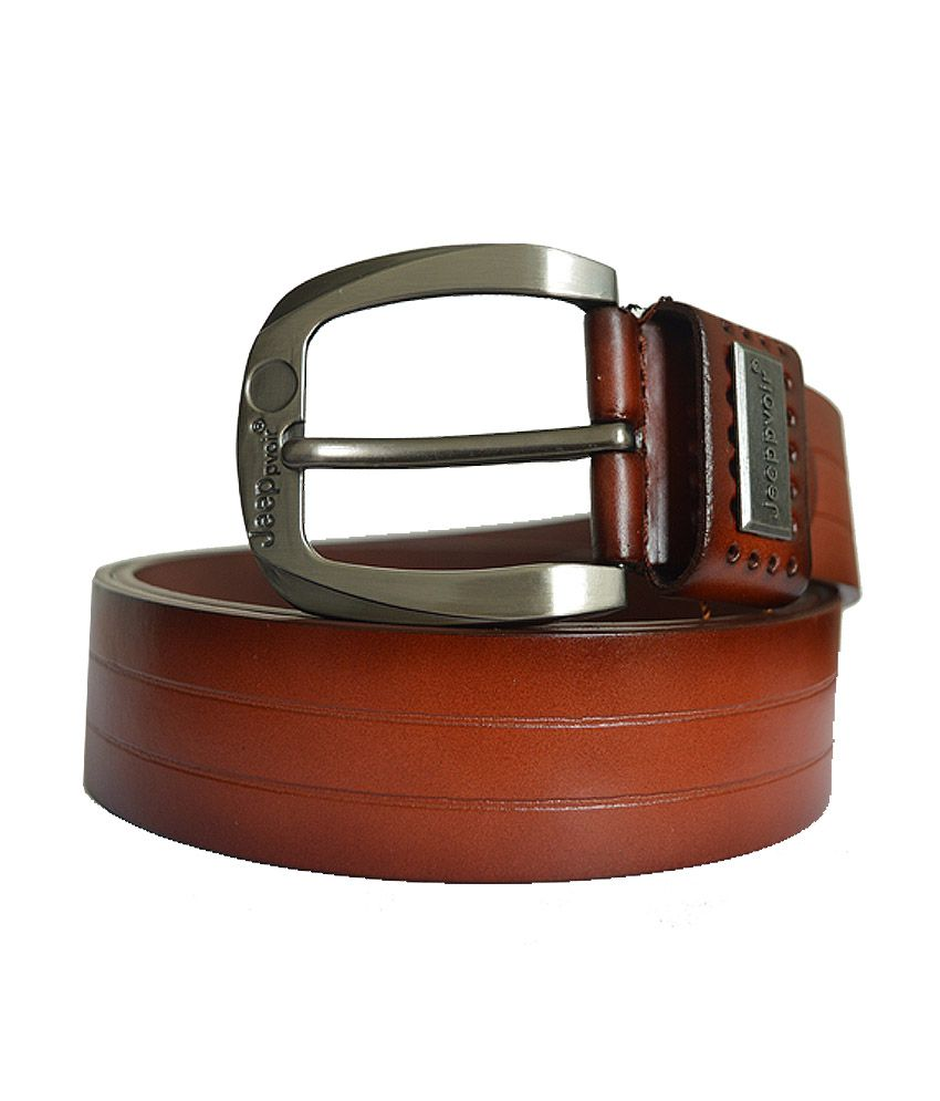Hs Retail Brown Leather Formal Belt