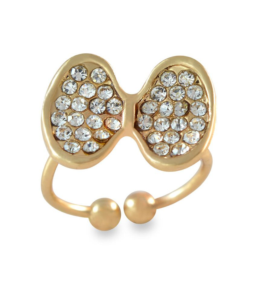 Sarah Bow Design Adjustable Golden Toe Ring