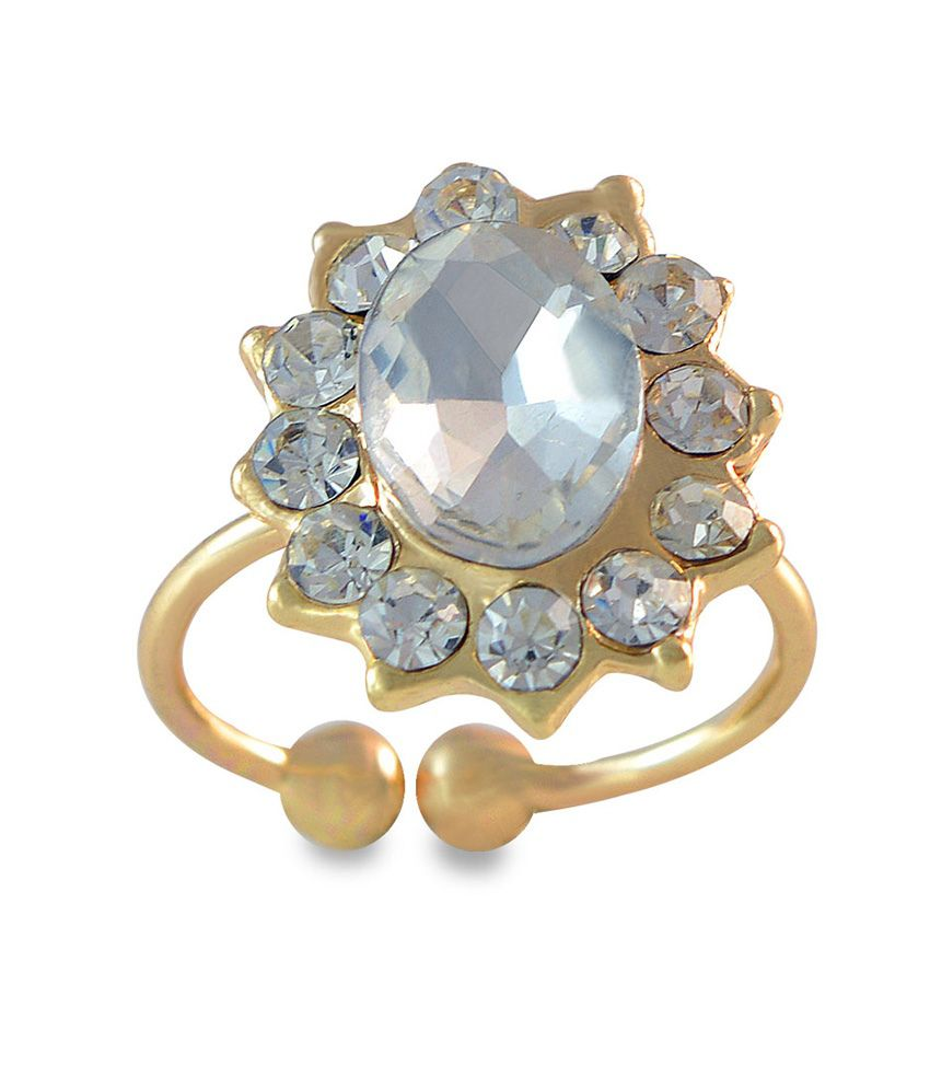 Sarah Oval Design Adjustable Golden Toe Ring