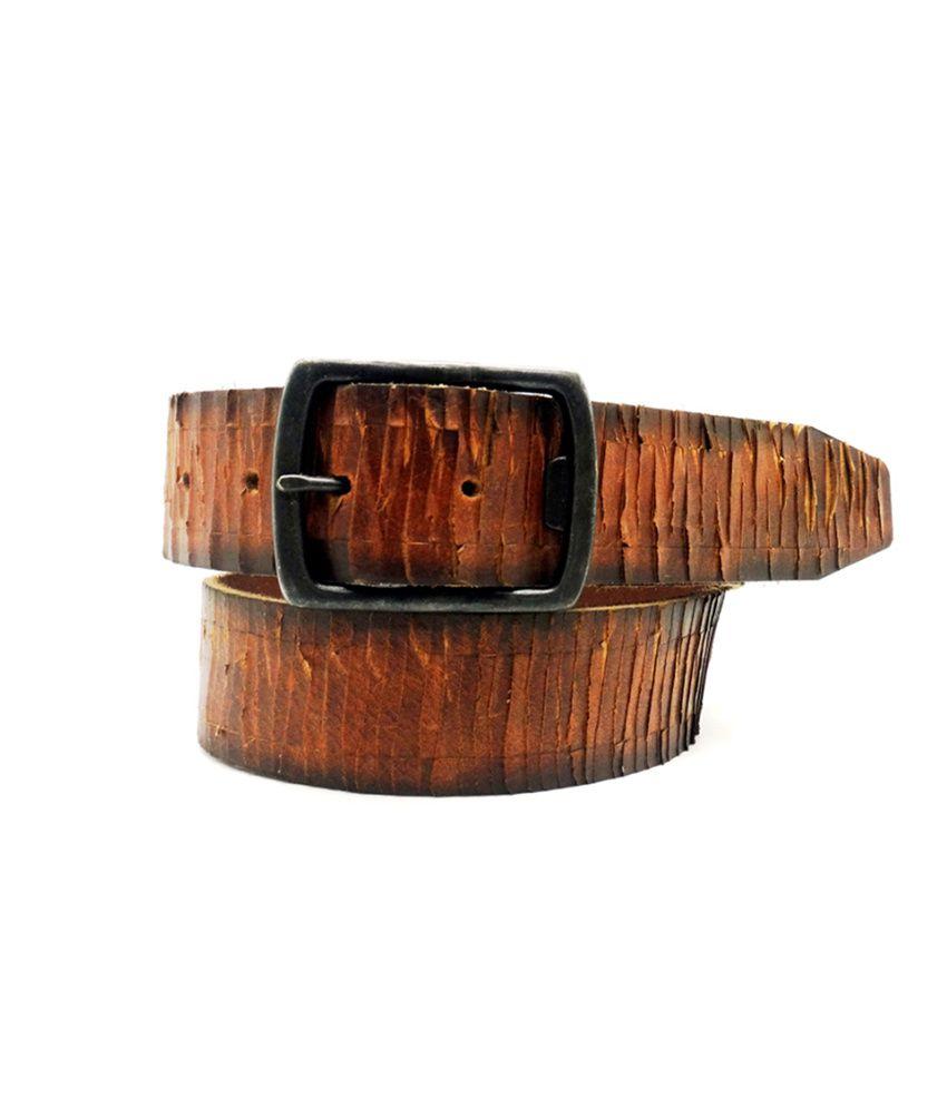 Urban Vintage Lapalma Brown Classic Leather Belt