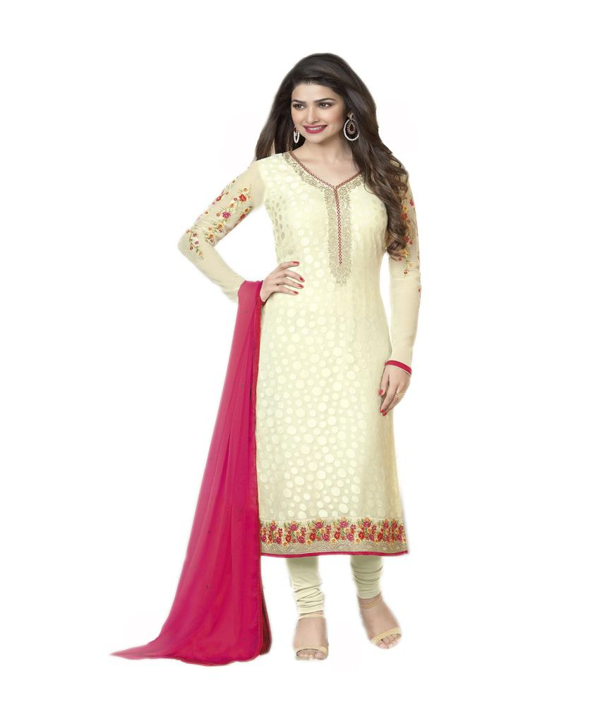 3316576444 Vinaytm Prachi Desai Beige Brasso Embroidered Straight Unstitched Salwar  Suit-Dress Material Dupatta - Buy Vinaytm Prachi Desai Beige Brasso  Embroidered ...