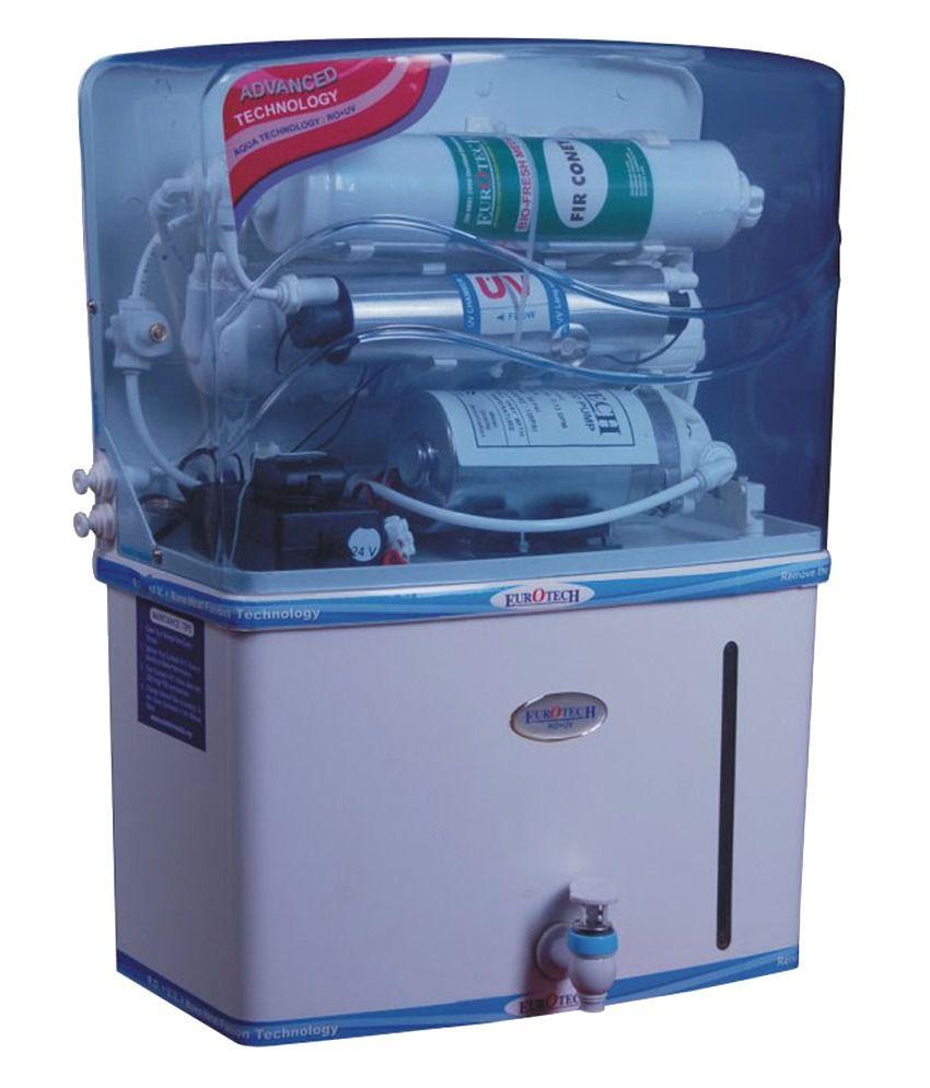 Eurotech 10 Litres RO Water Purifiers RO + Nano Heat Fusion ...
