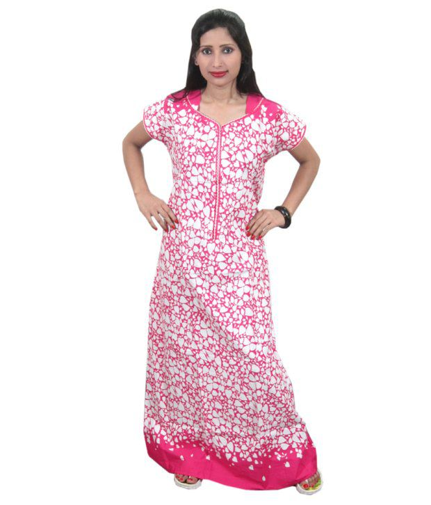 d578c759d1a Buy India Trendzs Pink Cotton Printed Long Nighty Online at Best Prices in  India - Snapdeal