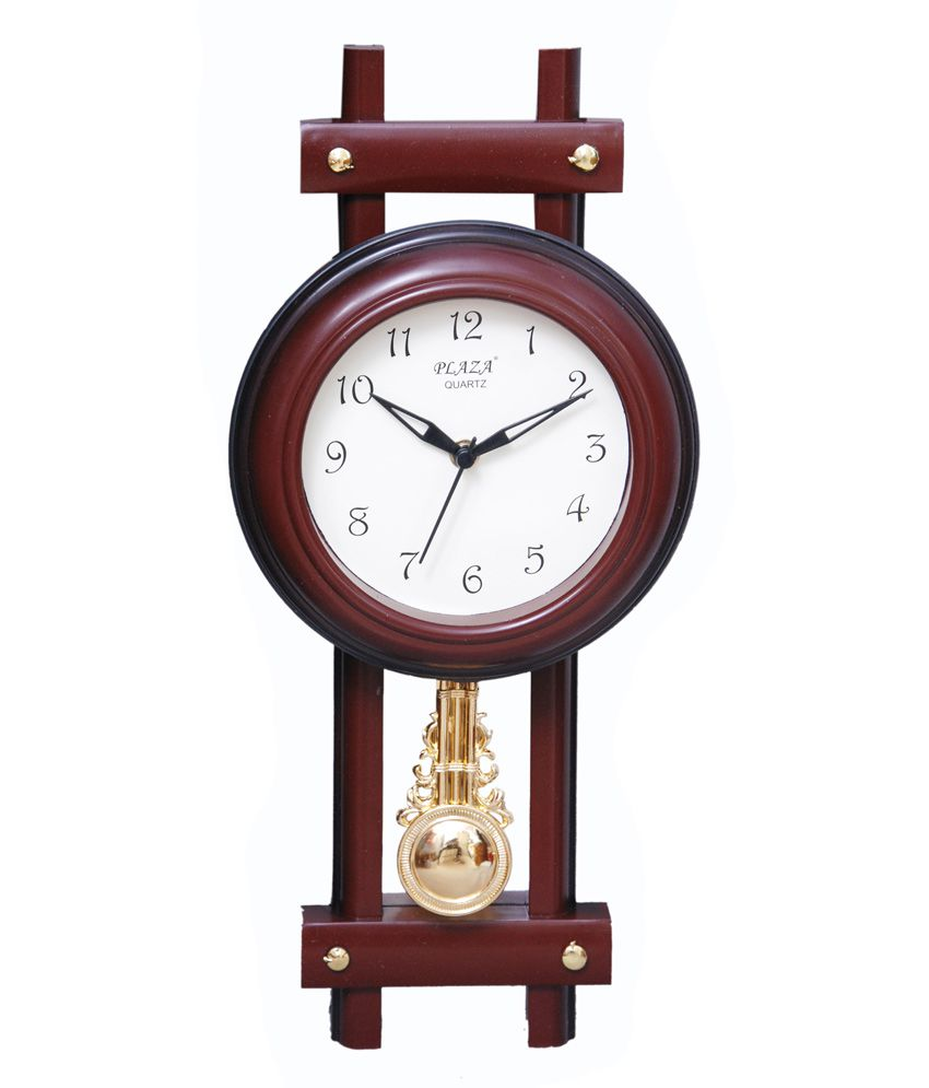 Plaza Brown Pendulum Wall Clock Buy Plaza Brown Pendulum