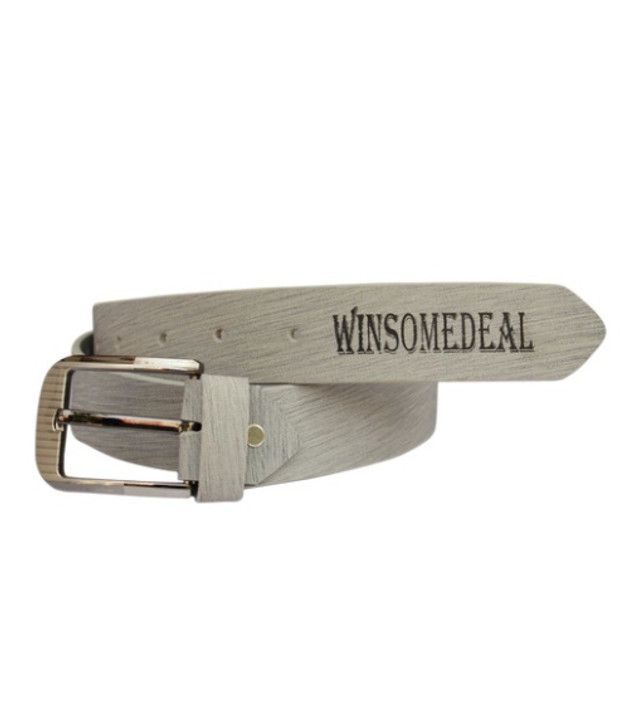 Winsome Deal Gray Leather Belt For Men