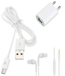 Trost Combo of USB Adapter,Data Cable & Headphones For Android mobile