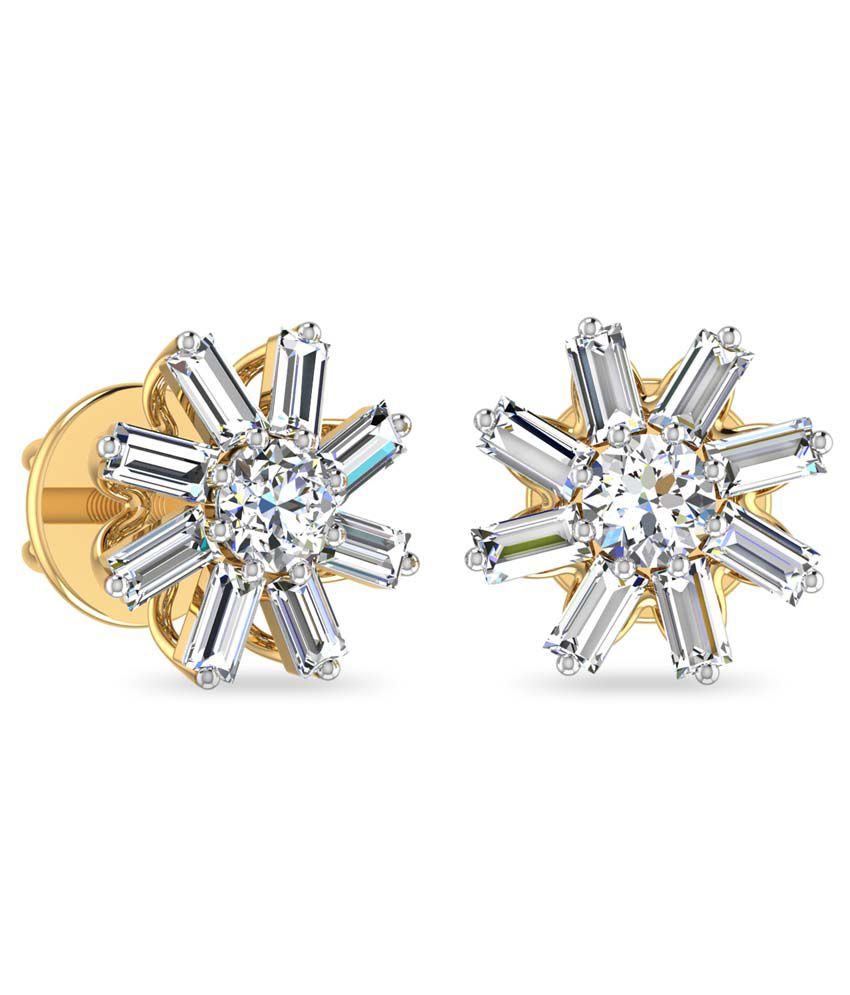 WearYourShine PC Jeweller 18KT Gold The Ancika Diamond Earrings