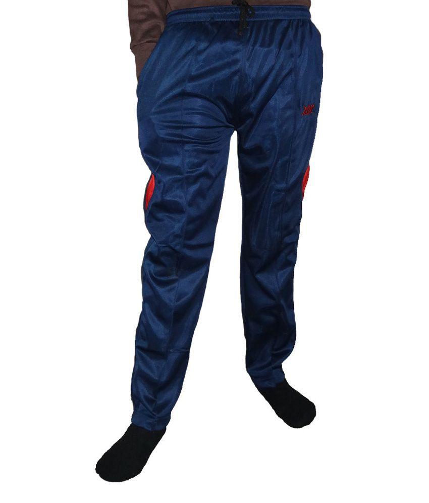 Alfa Power Men's Blue Polyester Track Pant