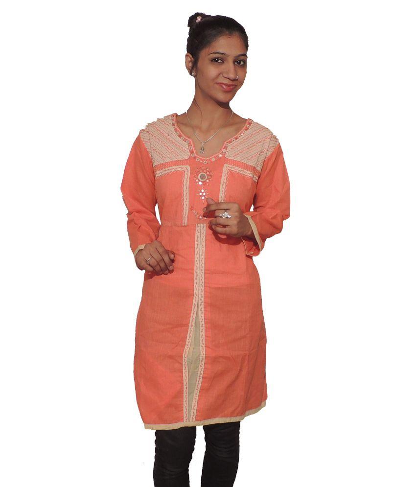 Ekhushi Cotton Printed Knitted Kurti