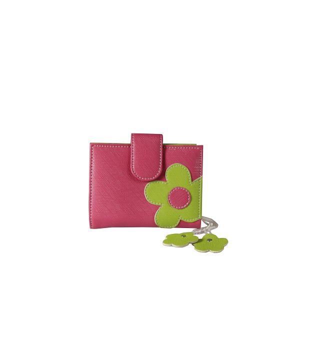 Top-zone Pink Non Leather Regular Wallet For Women