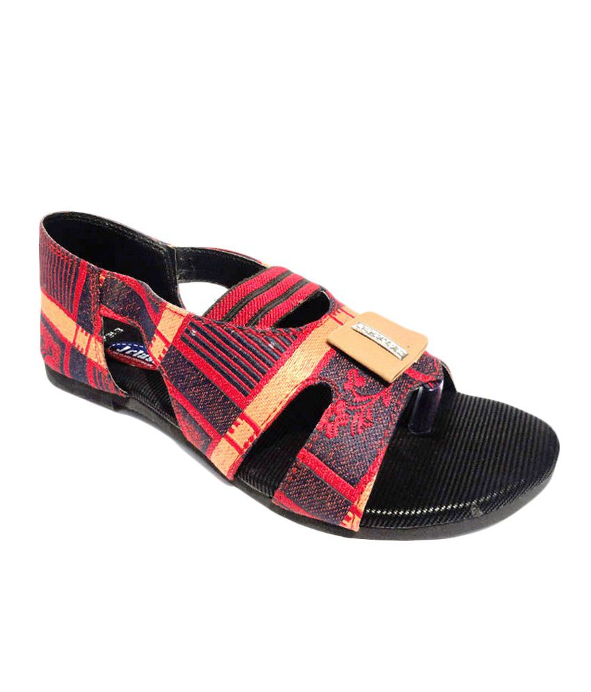 Vaishnovi Multicolour Jeans Daily Women Flat Sandals