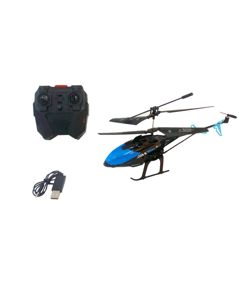 AZI Red and Blue Sky Hawk 3.5 CH Helicopter With Gyroscope