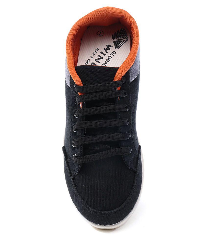 Globalite Black Lifestyle Sneakers Men