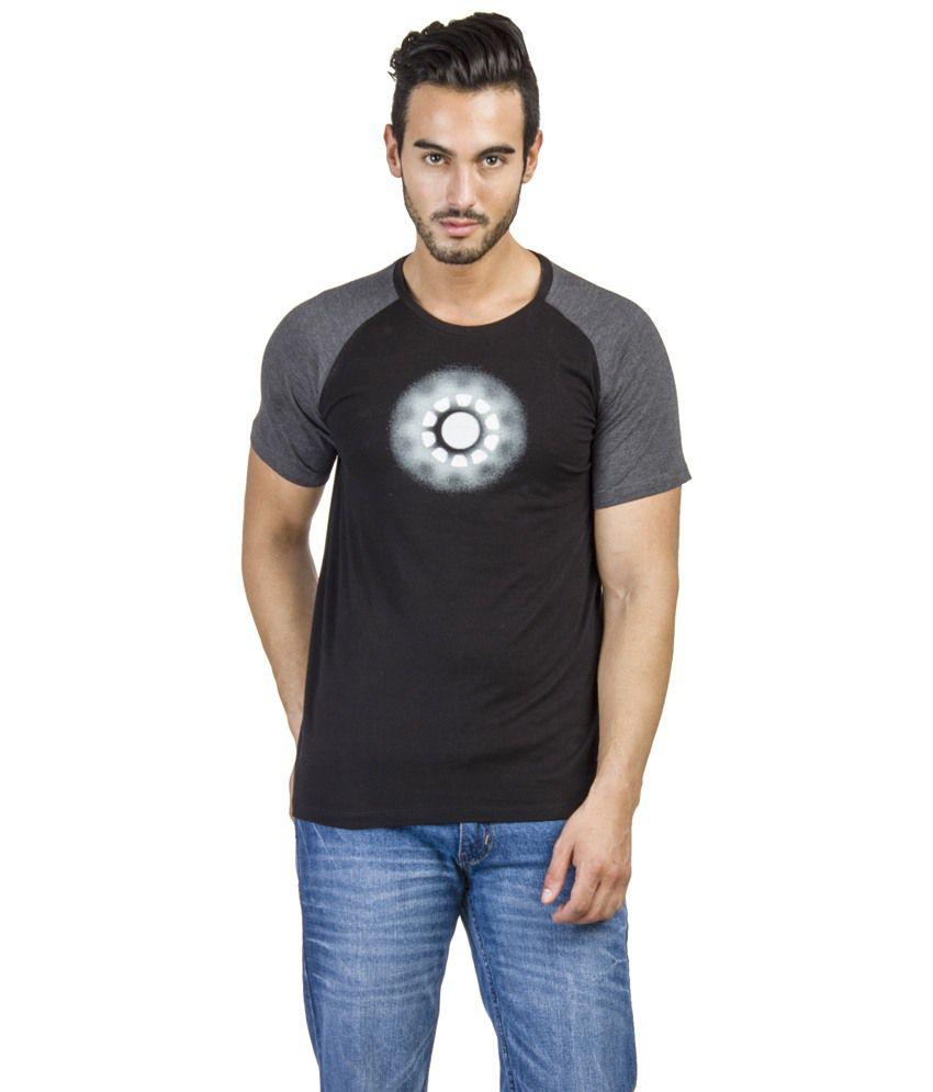 Disney Marvel Black Graphic T-shirt For Men