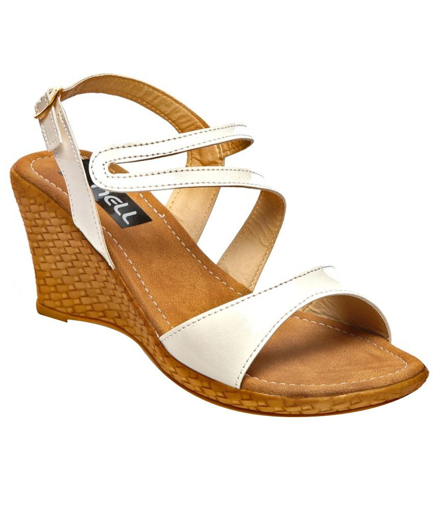 Nell White Heeled Sandals