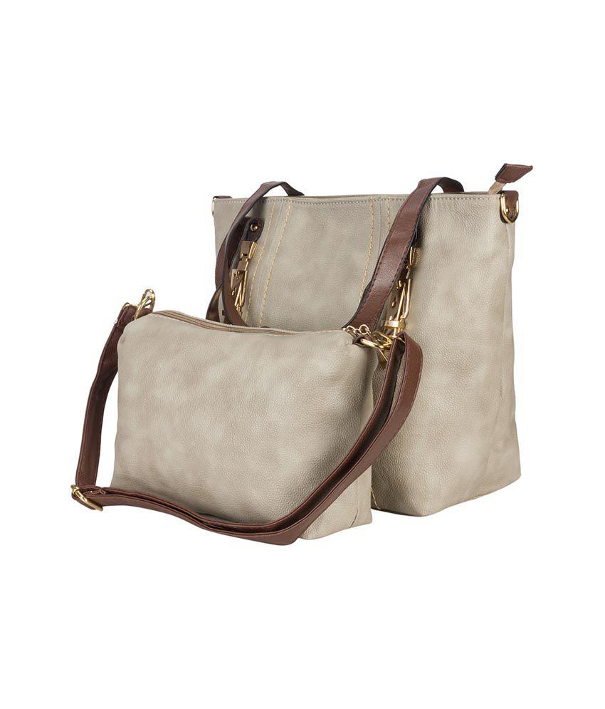Adora Gray P.U. Handbag for Women