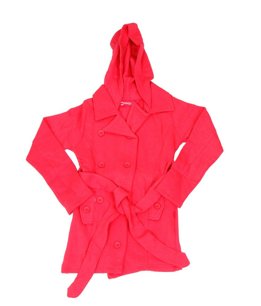 Dreamszone Pink Cotton Full Sleeve Hood Jacket