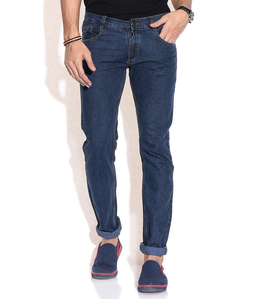 Fizzaro Blue Regular Cotton Jeans