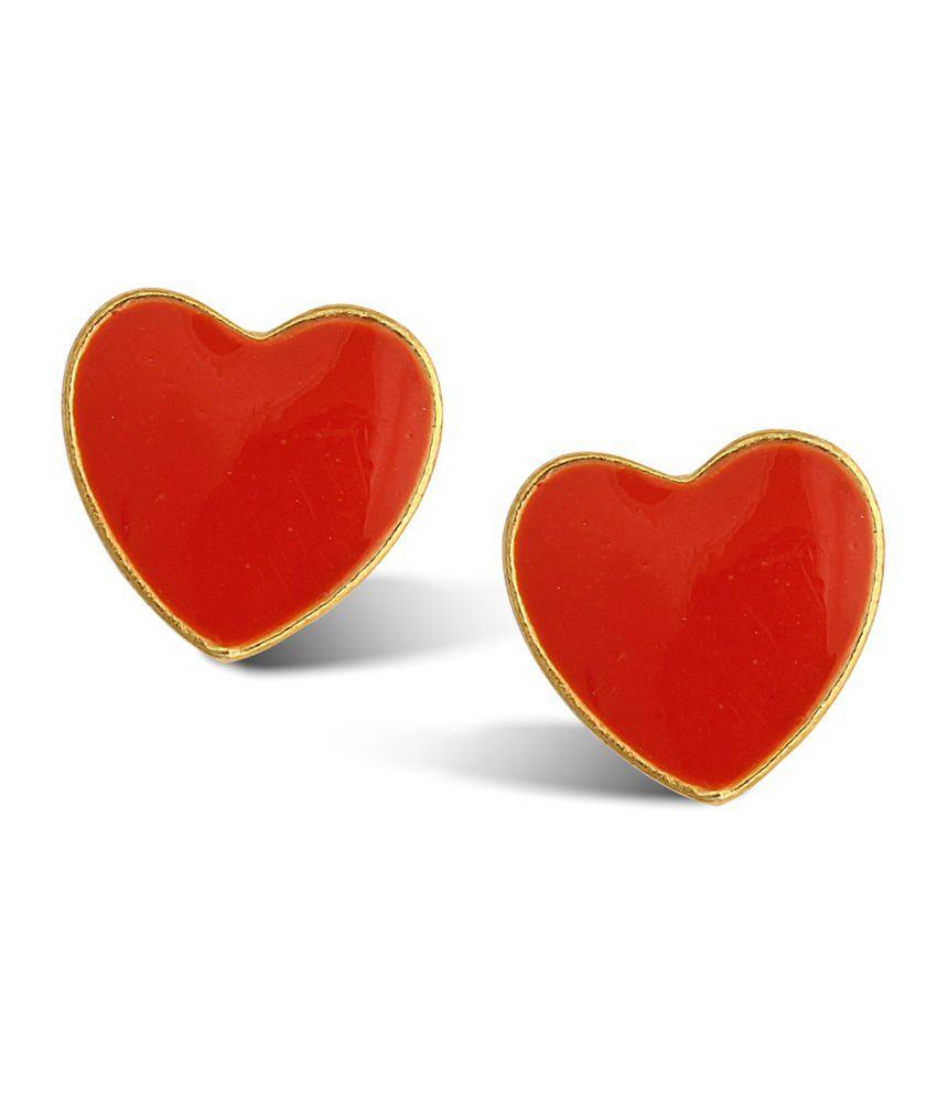 Luxor Orange Alloy Stud Earrings