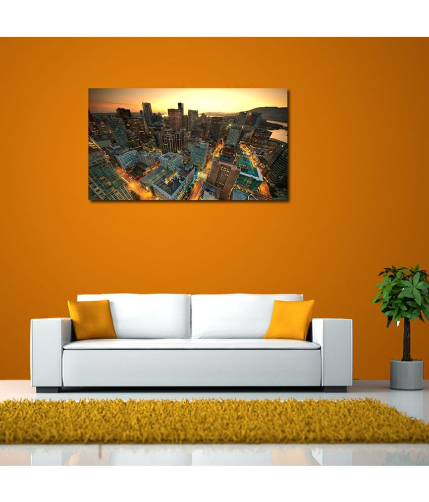 999Store Canada Downtown Printed Modern Wall Art Painting - Large Size
