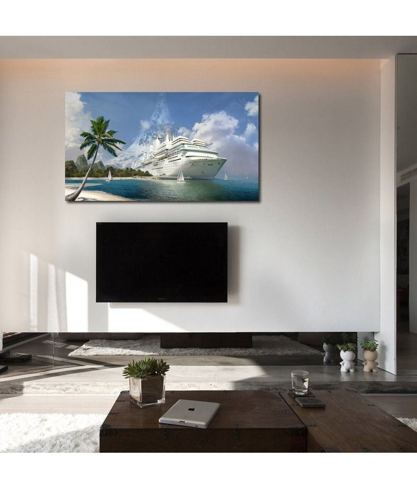 999Store Cruise Ship In The Sea Printed Modern Wall Art Painting - Large Size