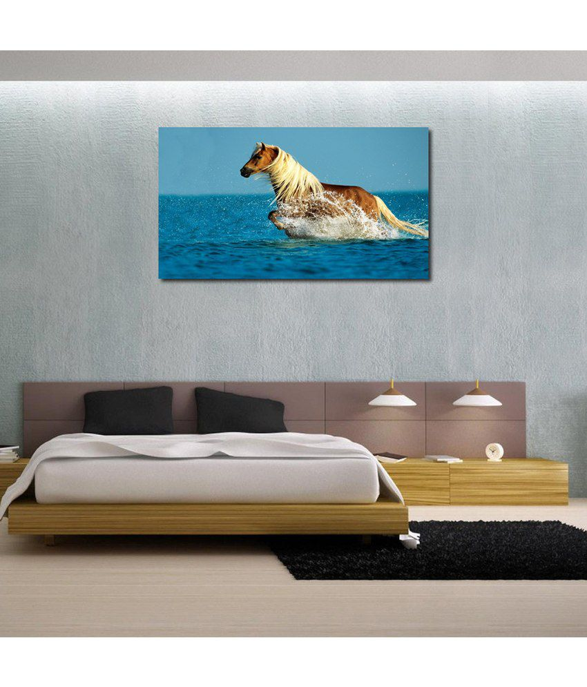 999Store Horse In The Sea Printed Modern Wall Art Painting - Large Size