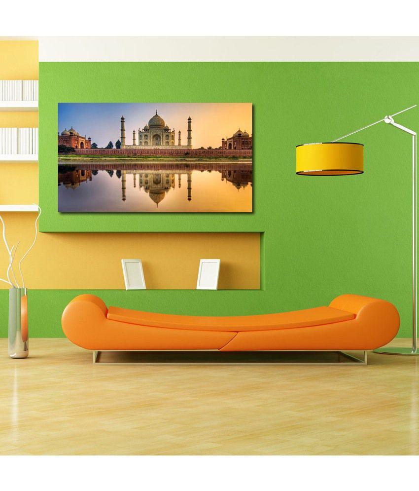 999Store Tajmahal Printed Modern Wall Art Painting - Large Size