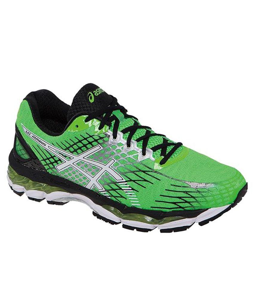 sale retailer 28174 a5b33 Asics Gel-Nimbus 17 Green Sports Shoes