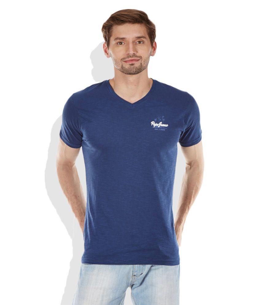 best sneakers d8de8 165c4 Pepe Jeans Navy V-Neck T-Shirt