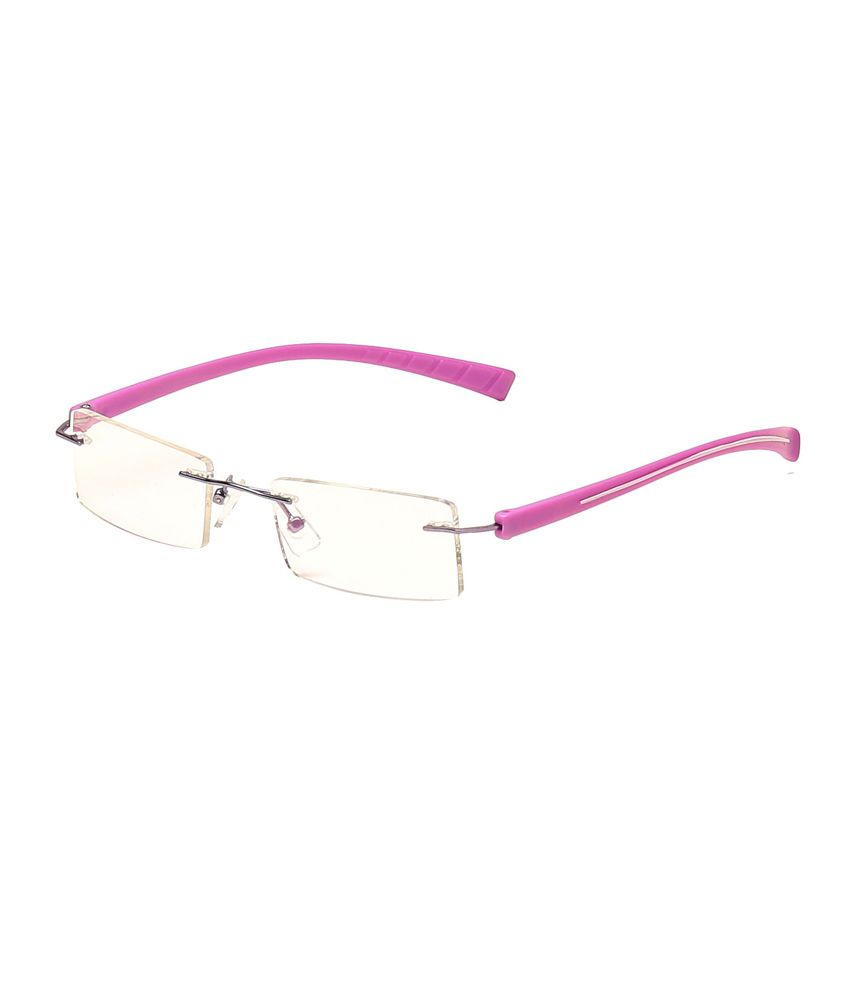 Rimless Glasses More Expensive : New Zovial Pink Non Metal Rimless Eyeglasses - Buy New ...