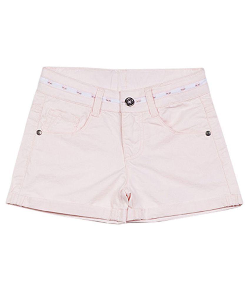 UCB  Bubblegum Pink Solid Shorts For Kids