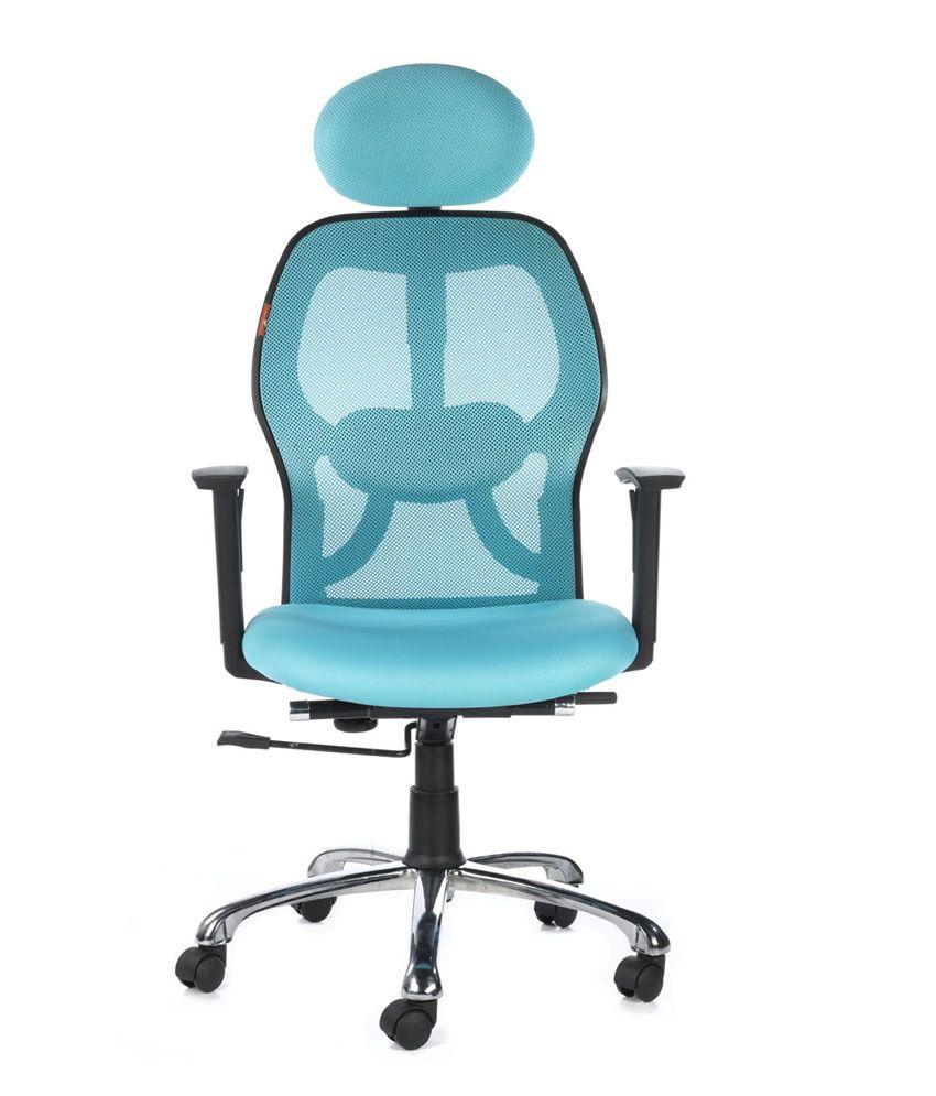 Teal office chair -  Bluebell Ergonomic Kruz High Back Office Chair