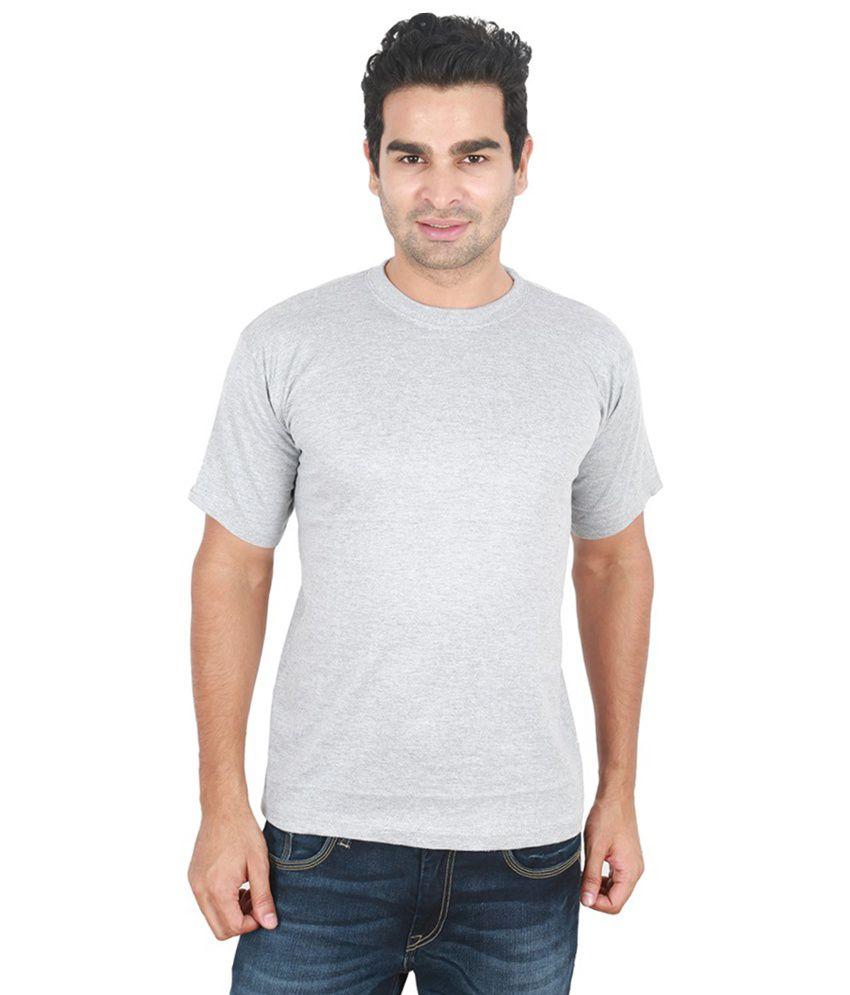 Cnmn Gray Half Sleeves Cotton T-shirt
