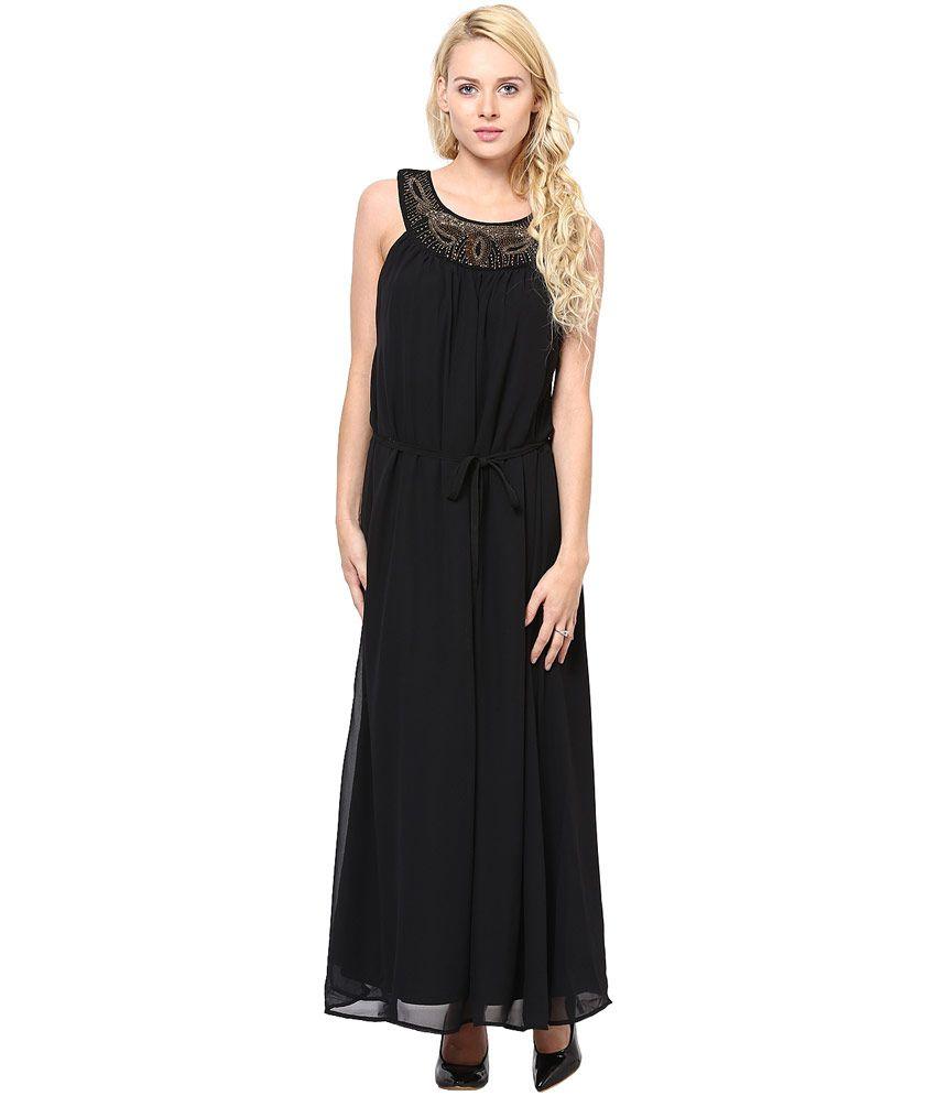 Rose Vanessa Net H&m Long Black Dress