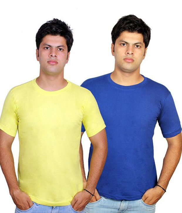 Priest Trading Multicolor Round Neck Cotton T-shirts- Pack Of 163