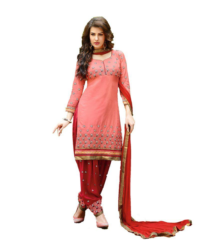 k k treading Multi Color Cotton Unstitched Dress Material