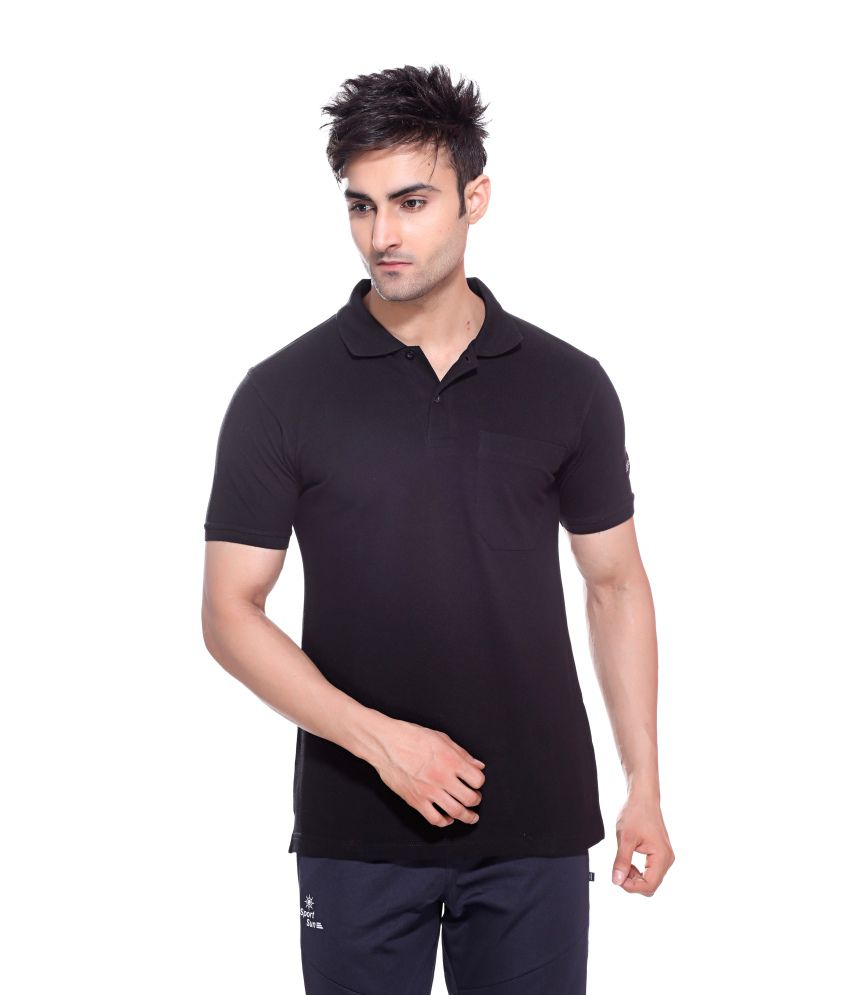 Sport Sun Sportswear Black Mattey Cotton T-Shirt