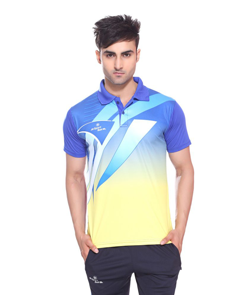Sport Sun Sportswear Sublimation Print Royal Half Sports T-Shirt