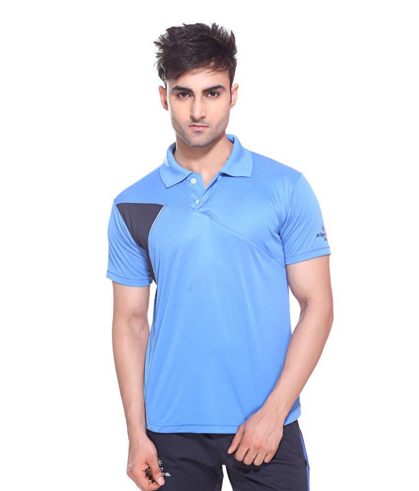 Sport Sun Sportswear Turquoise Half Sports T-Shirt