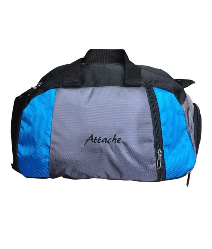 Attache Blue (With Shoe Pocket) gear Gym Bag