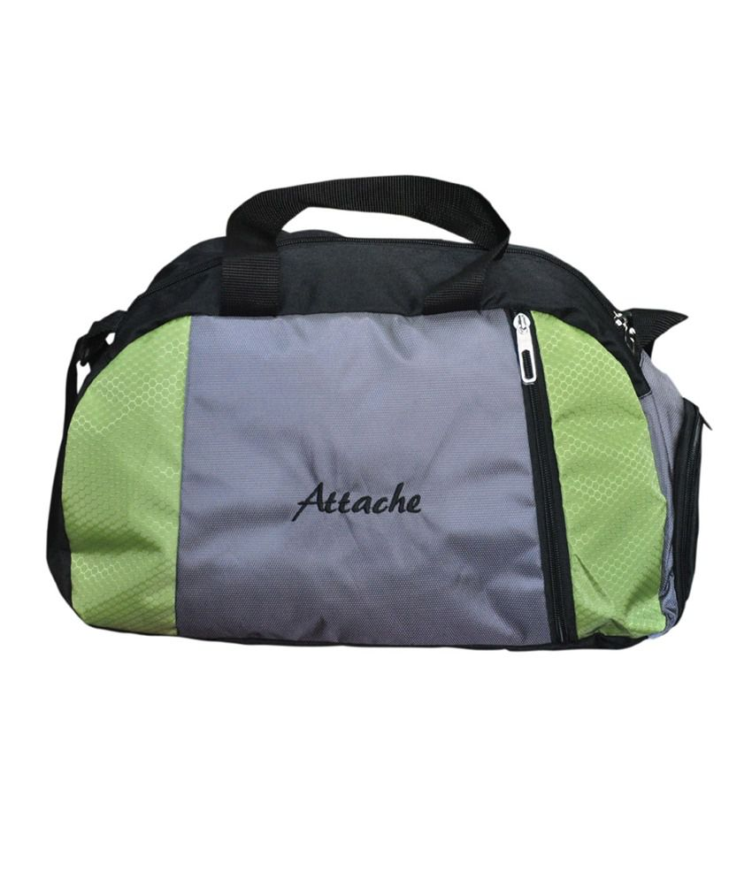 Attache Green (With Shoe Pocket) gear Gym Bag