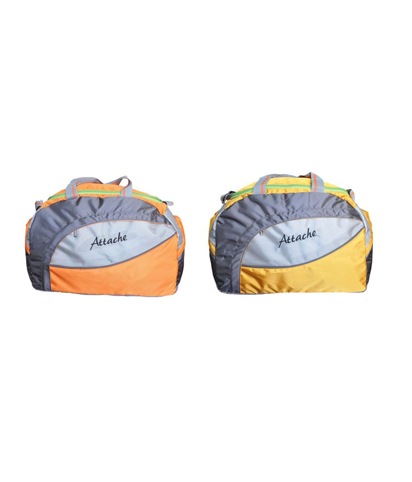 Attache Travel & (Orange & Yellow) gear Gym Bag
