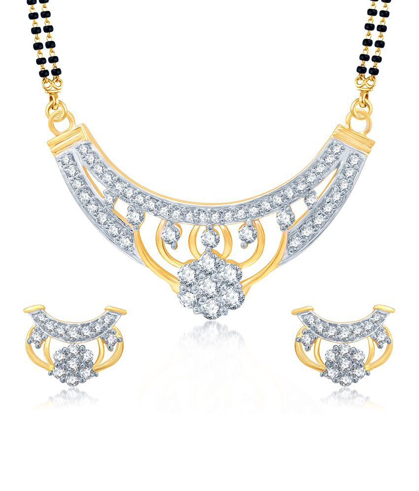 Sukkhi Creative Gold and Rhodium Plated Cubic Zirconia Stone Studded Mangalsutra Set (Mangalsutra Mala may vary from the actual image)