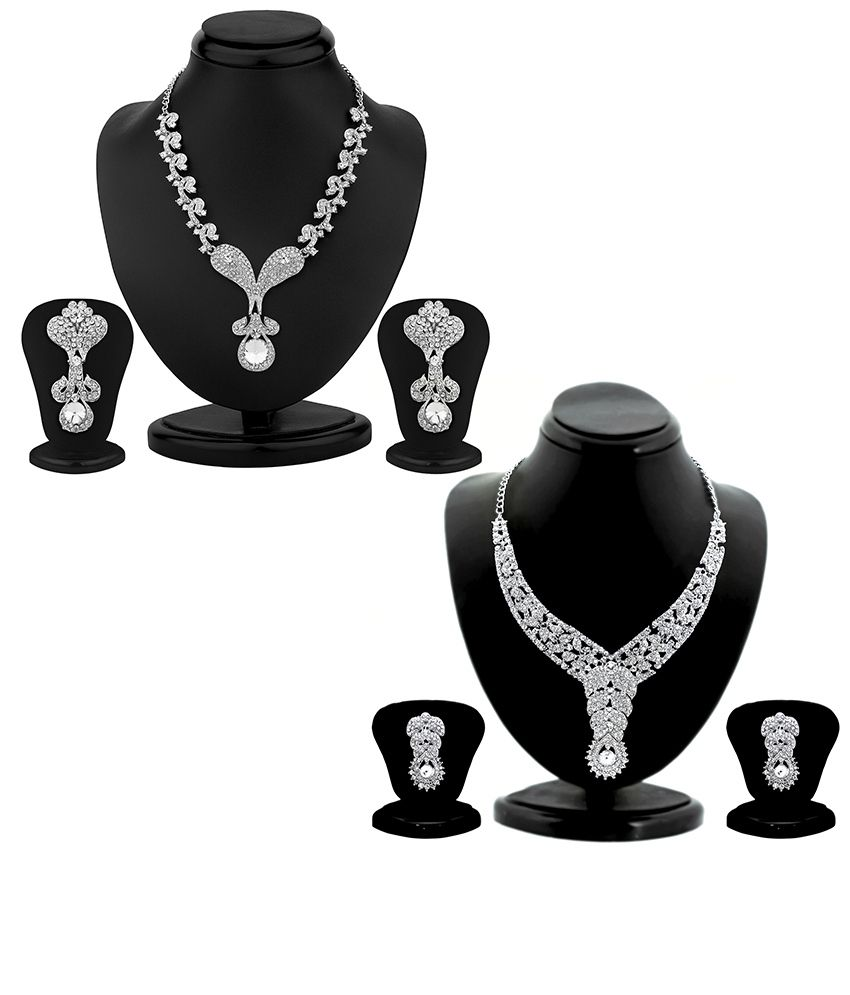 Sukkhi Estonish 2 Piece Necklace Set Combo
